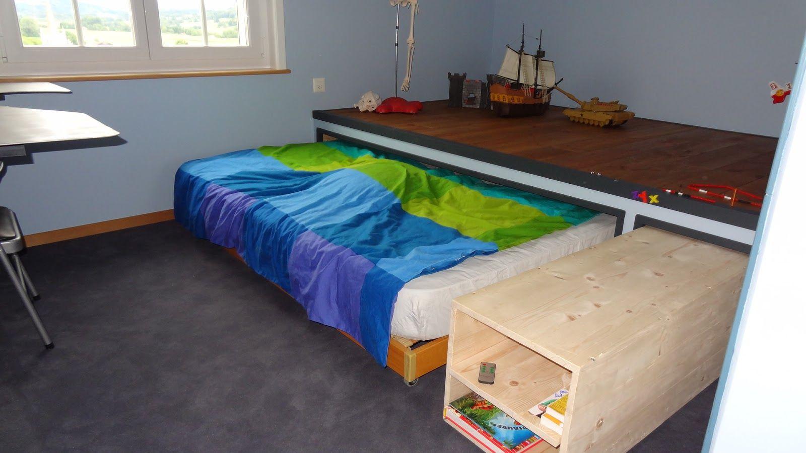 fabriquer un lit mezzanine mobilier bois rustic pinterest. Black Bedroom Furniture Sets. Home Design Ideas