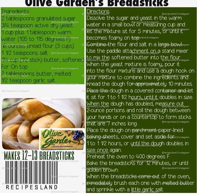 Olive Garden Breadsticks   Recipes To Write Down   Pinterest   Olive ...