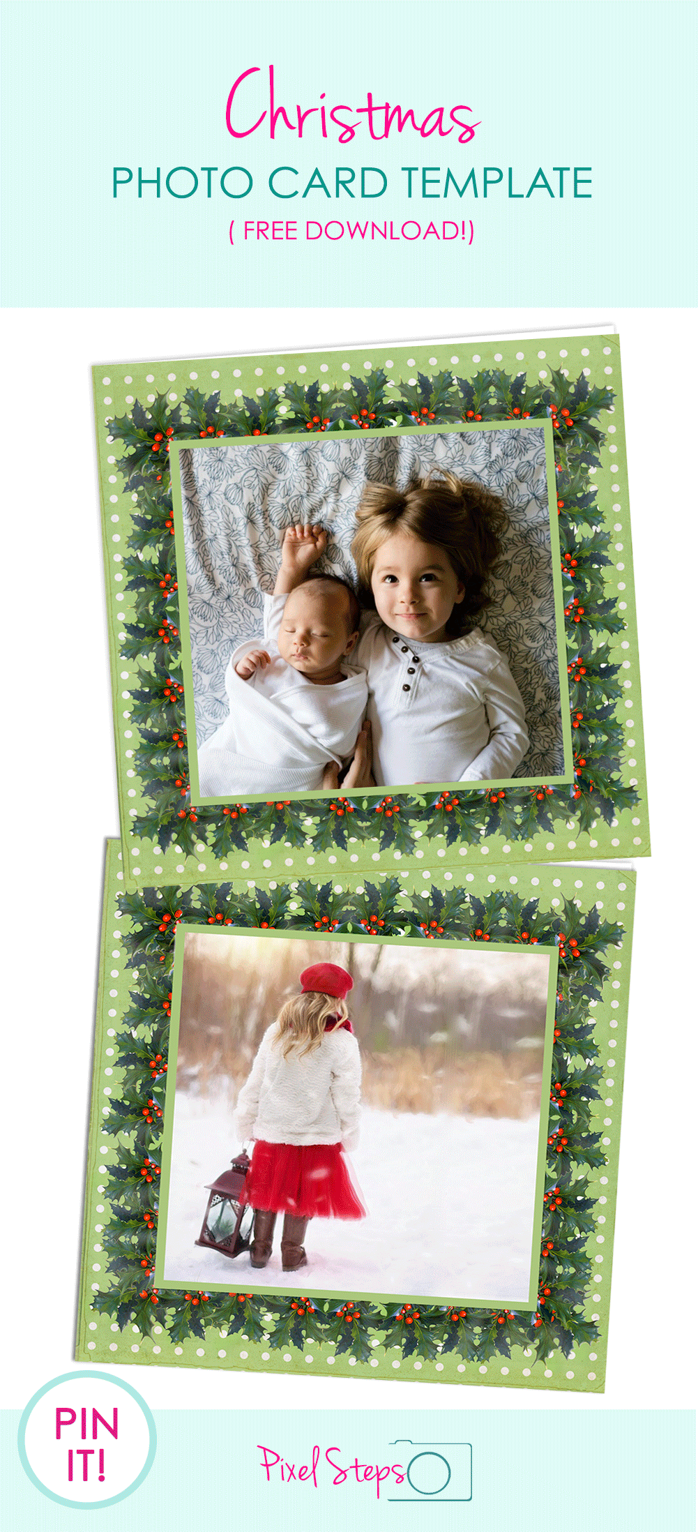 Christmas Card Template Free Printable Photo Greeting Cards