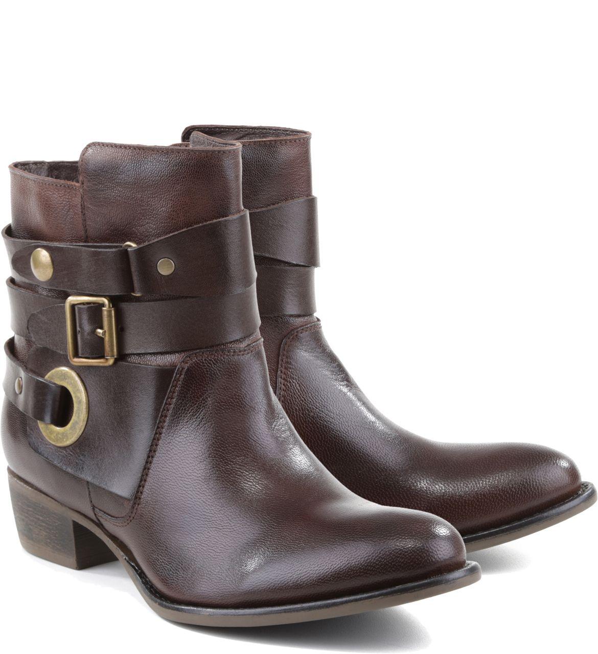 0fd914aec Bota Cano Curto Cacau | Arezzo | обувь em 2019 | Shoe boots, Boots e ...