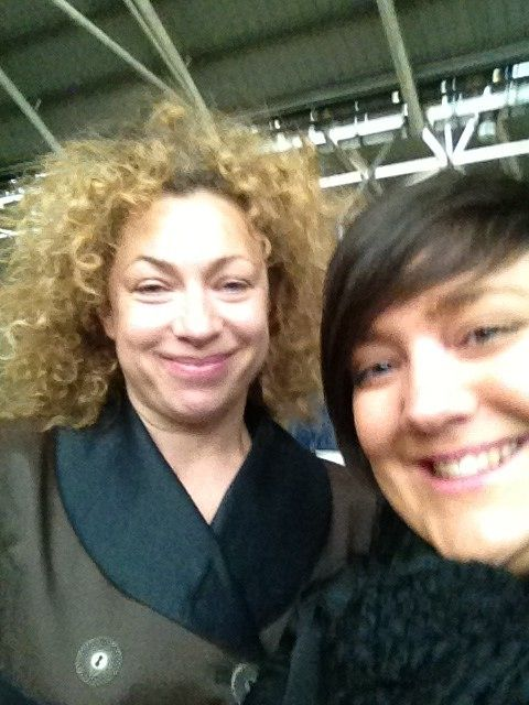 """Song Sighted alexkingstonsrampantrabbit:  """"Just bumped into the fab & gorg Alex Kingston in Leeds!"""" [x]"""
