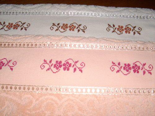 Patrones de toallas de punto de cruz imagui punto cruz pinterest - Cenefas punto de cruz para toallas de bano ...