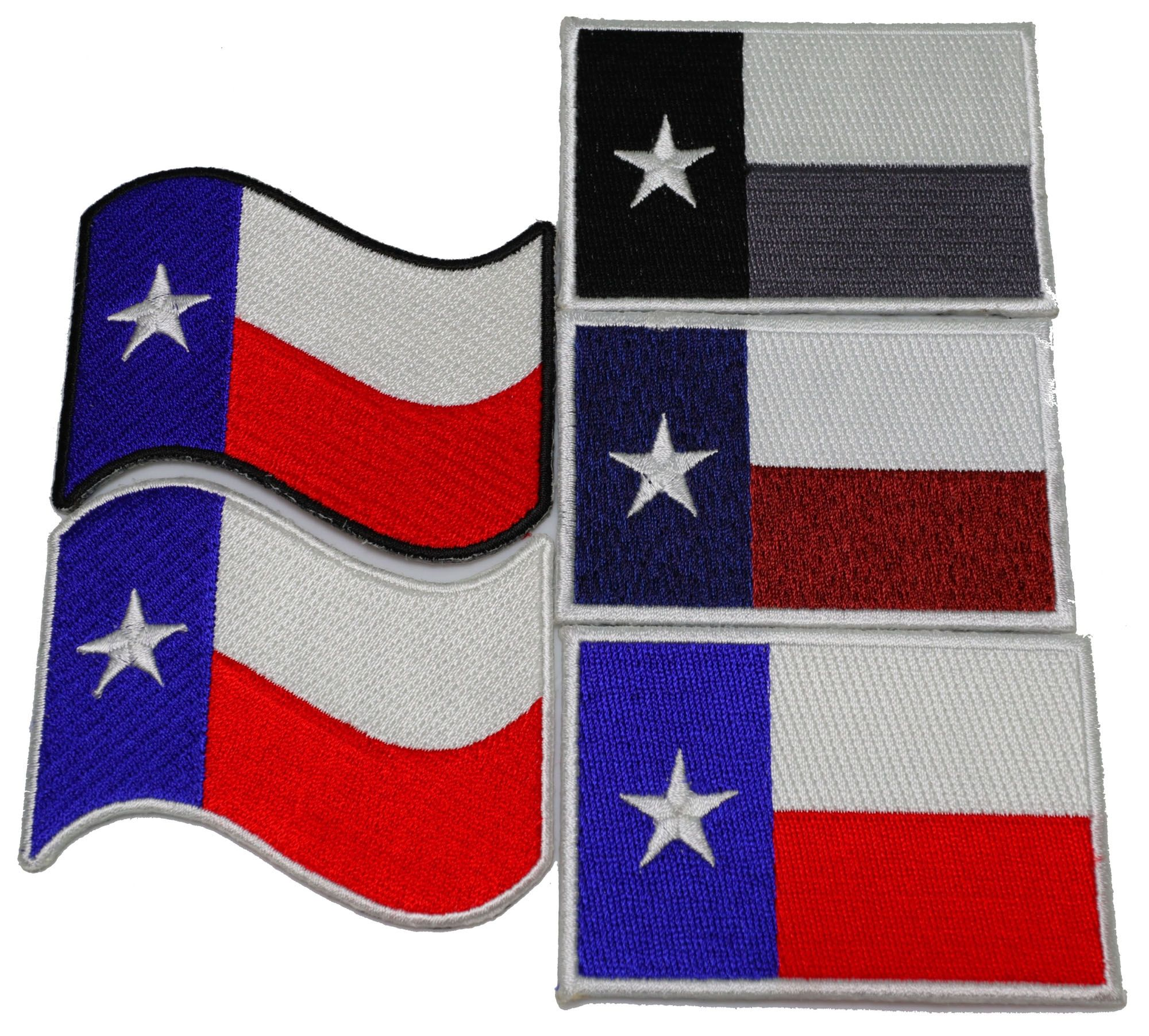 Set Of 5 Texas Flag Patches Waving And Rectangular Flag Patches Texas Flags Flag