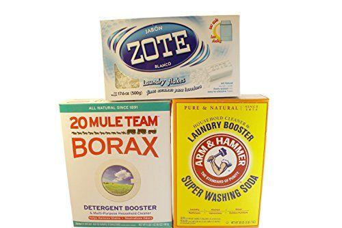 Laundry Soap Kit Diy Powder Detergent W Borax Washing Soda Zote