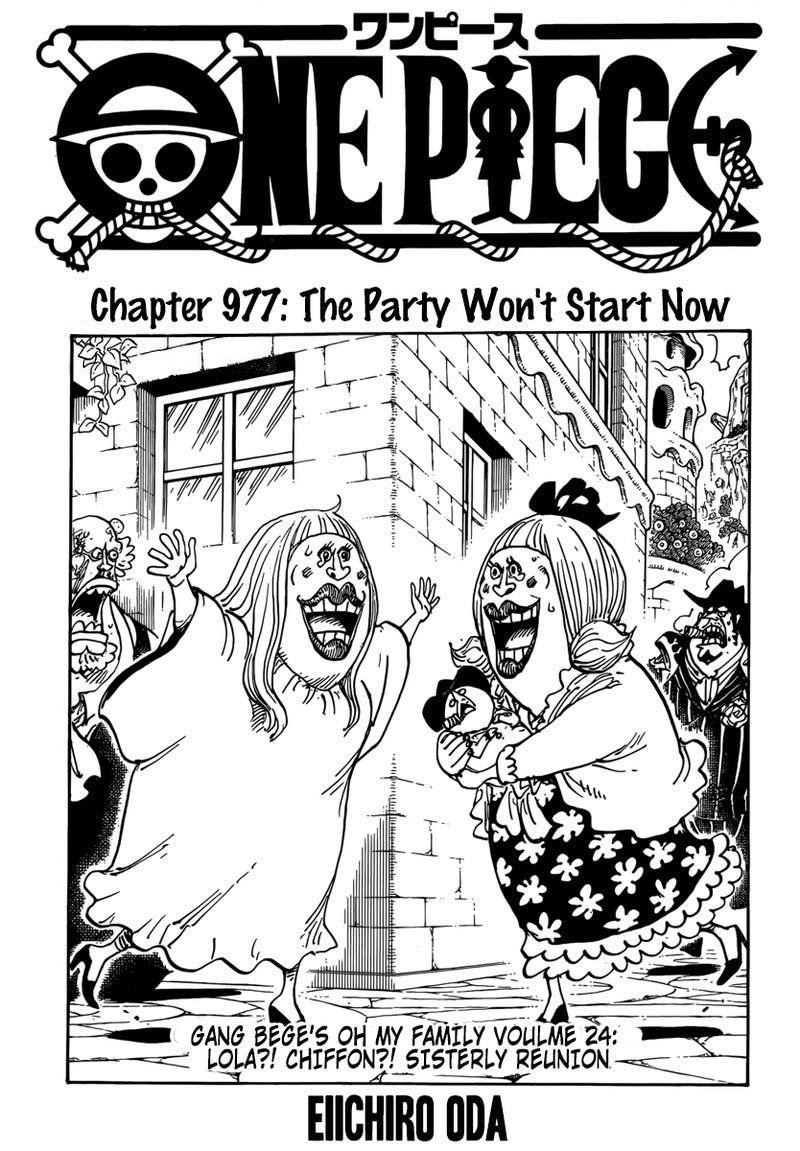 Baca One Piece 977 : piece, Piece, Chapter, Party, Won't, Start, Chapter,, Manga,, Manga