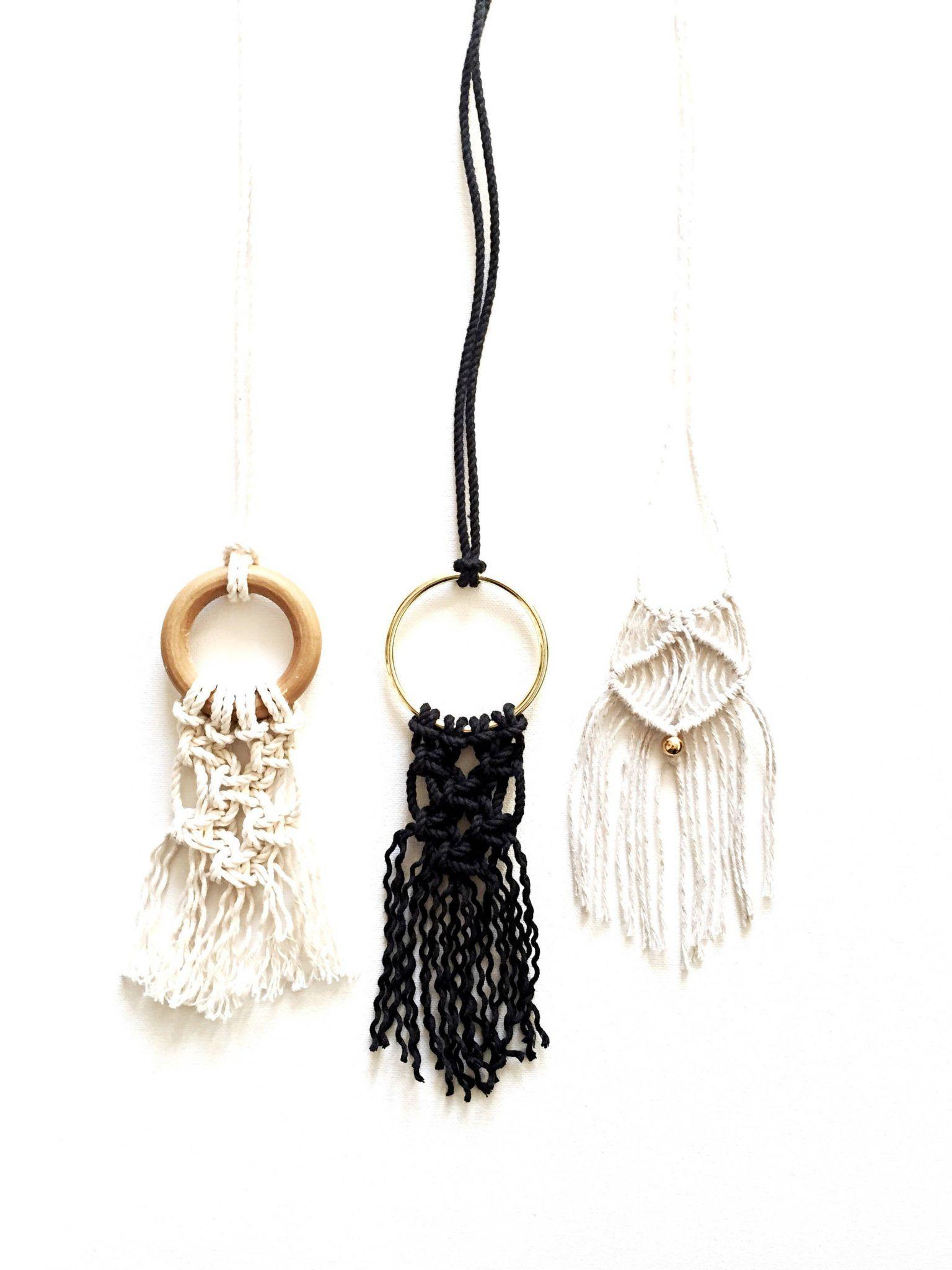 Diy macrame kits in 2020 macrame diy necklace kits macrame