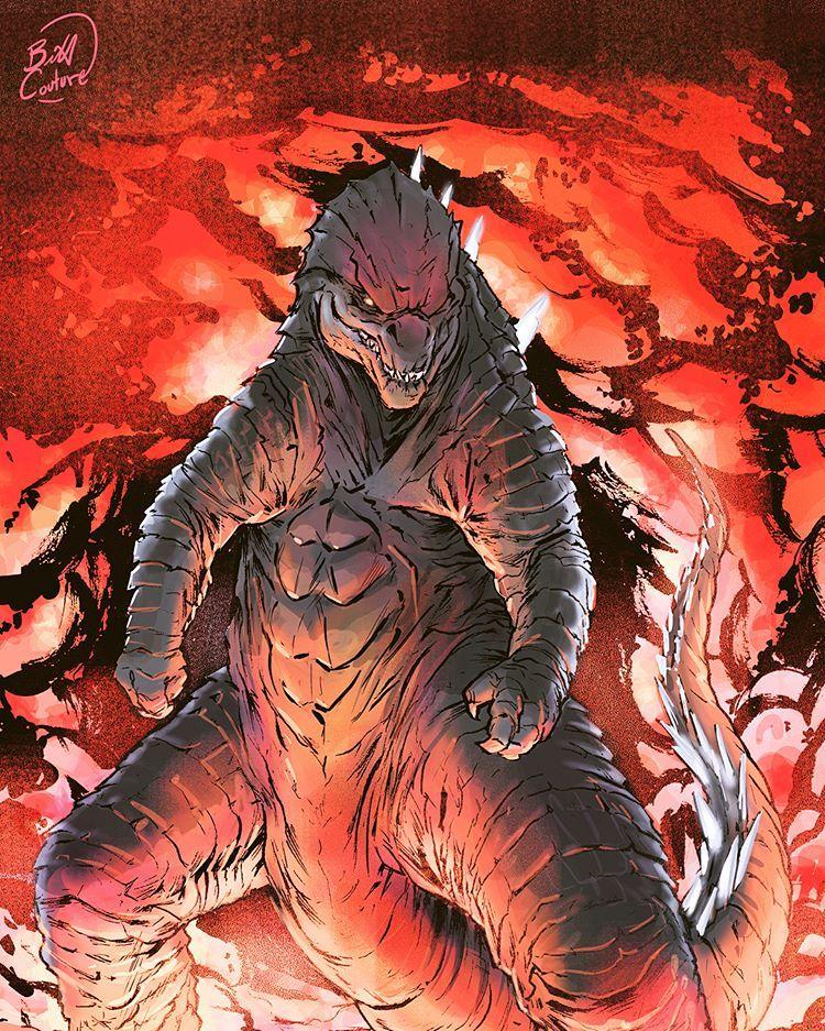 Godzilla 2 Imax Poster Textless: Anime King Ghidorah Gojira Ruuuuunnnnnnn In 2019 Godzilla