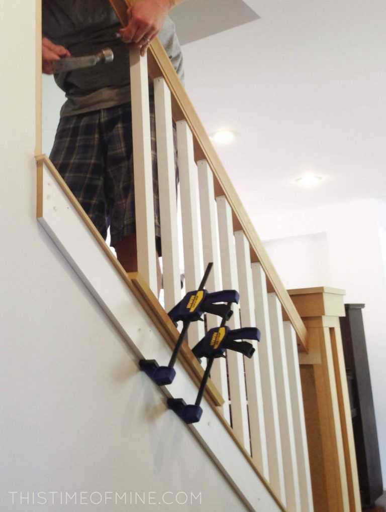 A Diy Oak Banister Makeover Tutorial And Tips In 2020 Stair