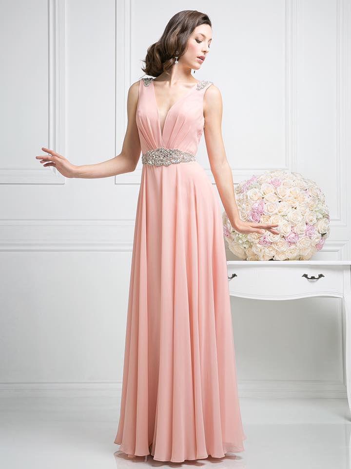 Vestido e tono rosa pastel con bordados | vestidos de gala | Pinterest