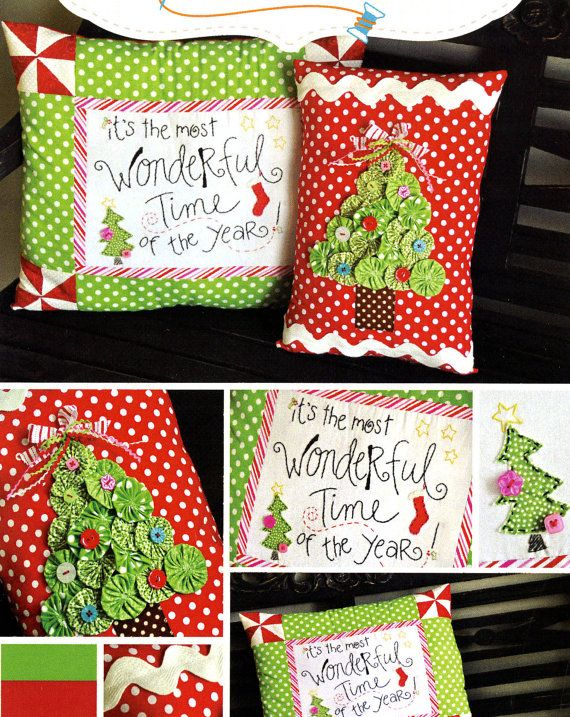 Christmas Pillow Pattern Kimberbell Kd123 Most Wonderful Time Of
