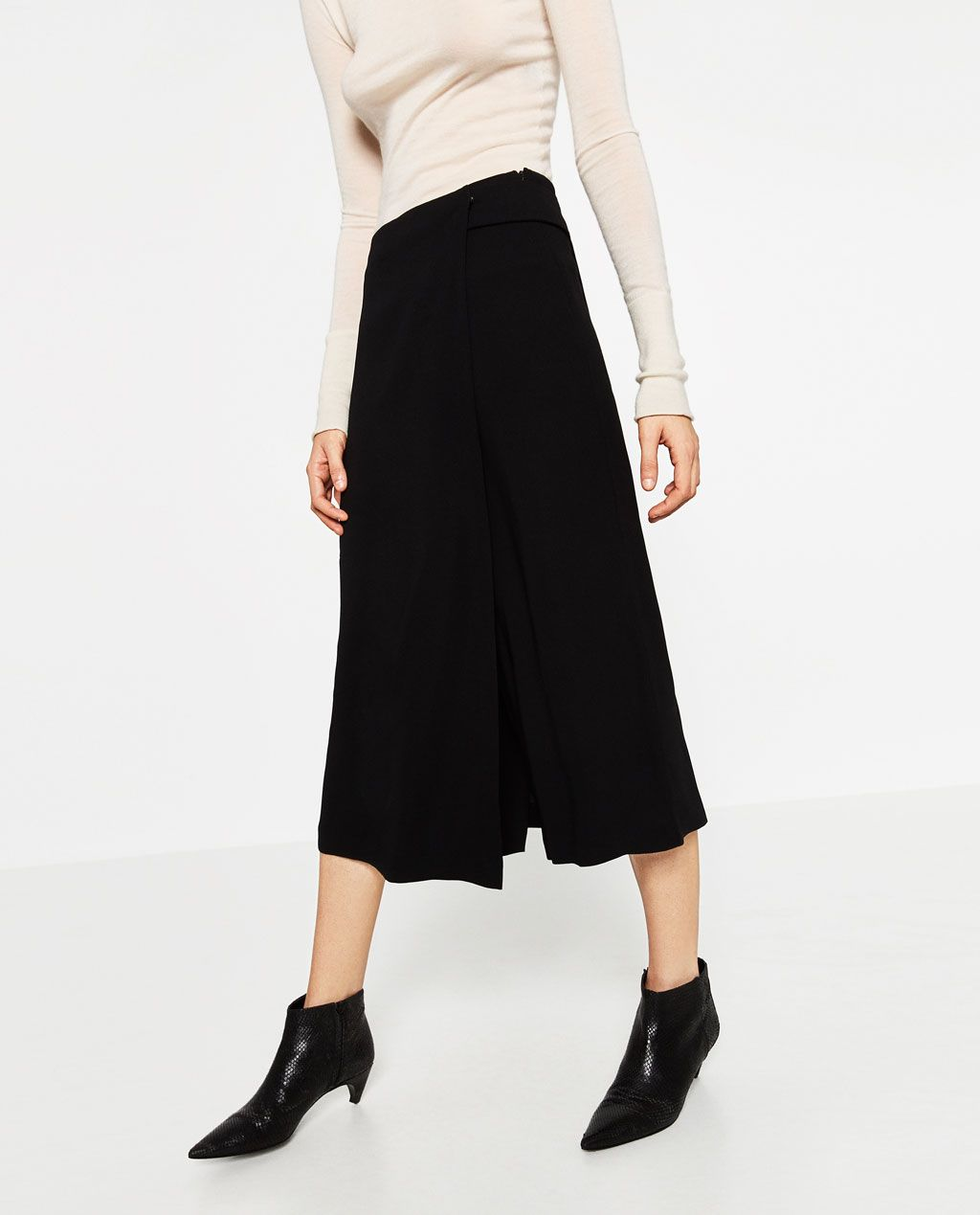faab475b0 WRAP CULOTTES-View all-TROUSERS-WOMAN | ZARA United States | Stylin ...