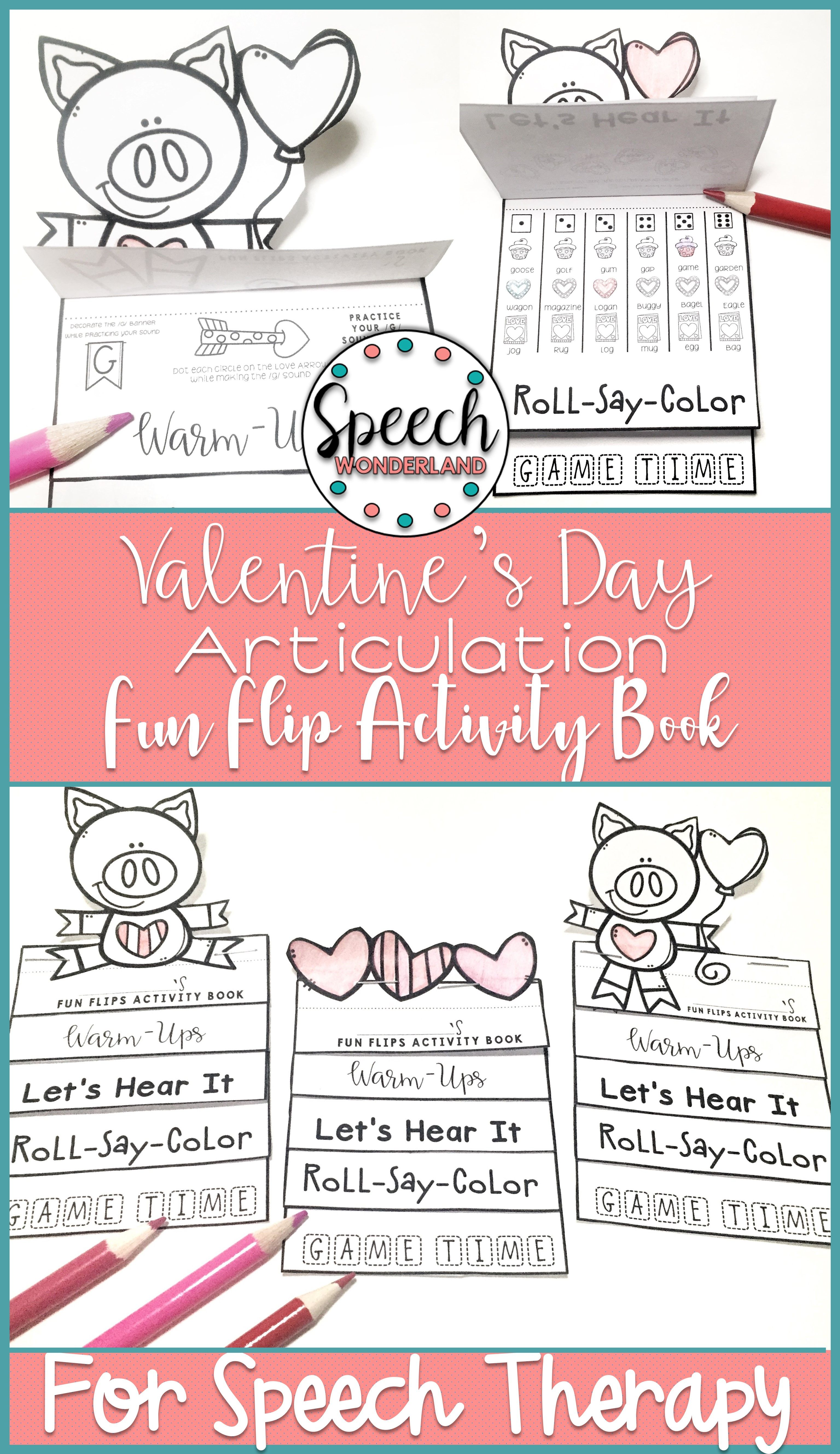 Valentine S Day Articulation Fun Flips Activity Book With