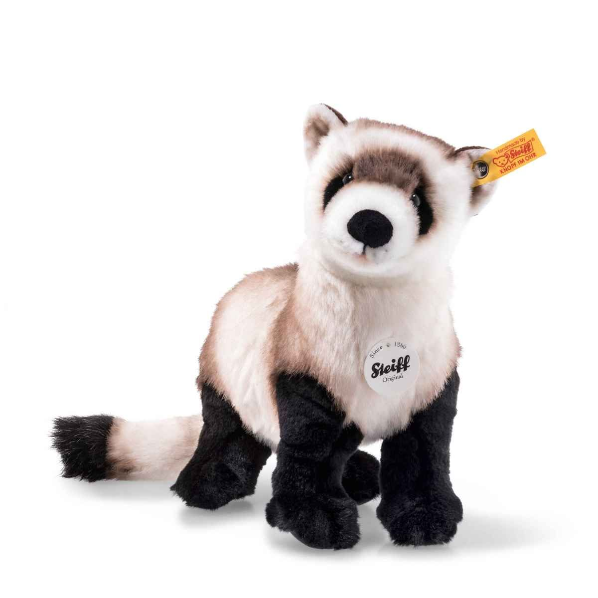 Silver Fox Stuffed Animal, 5 7 8in Wwf Stuffed Toy Silver Fox Lifelike Animal New