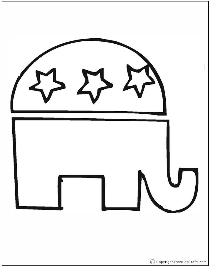 Republican Color And Symbol Clipart Library