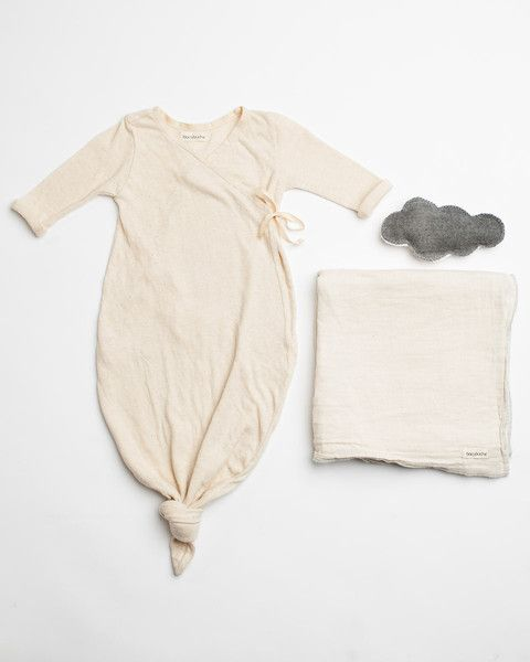 1d45b7885 Bacabuche kimono style tie-up gown, swaddle blanket, and soft baby rattle