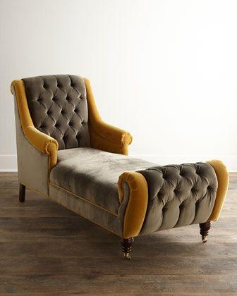 Brandi Velvet Chaise by Haute House at Horchow.