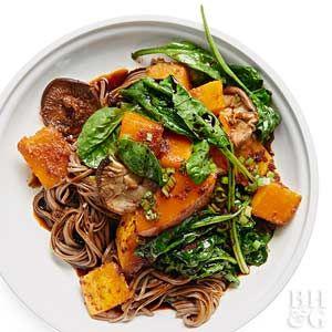 Butternut Squash and Mushroom Noodle Bowl
