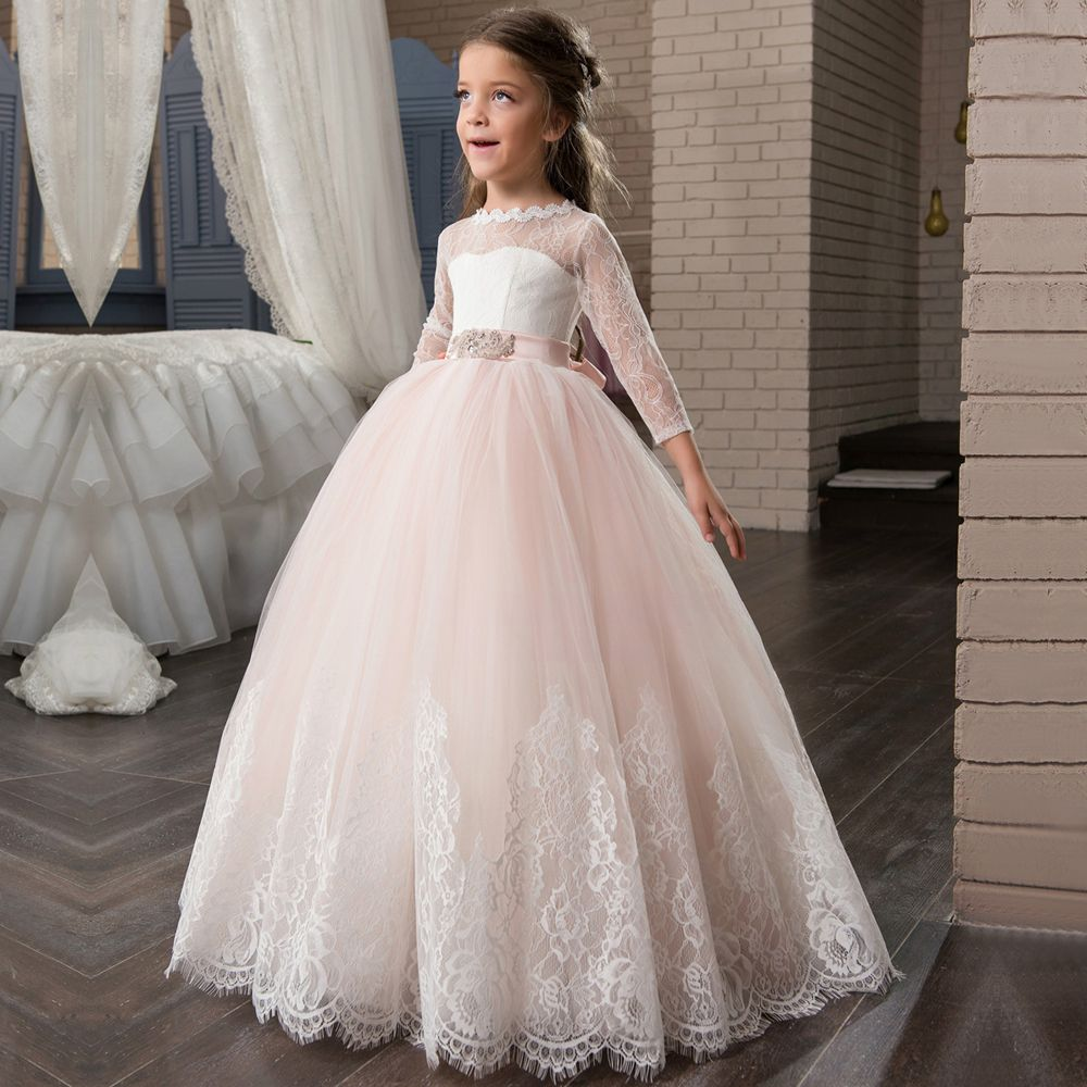 Click to buy ucuc new arrival long sleeve first communion dresses