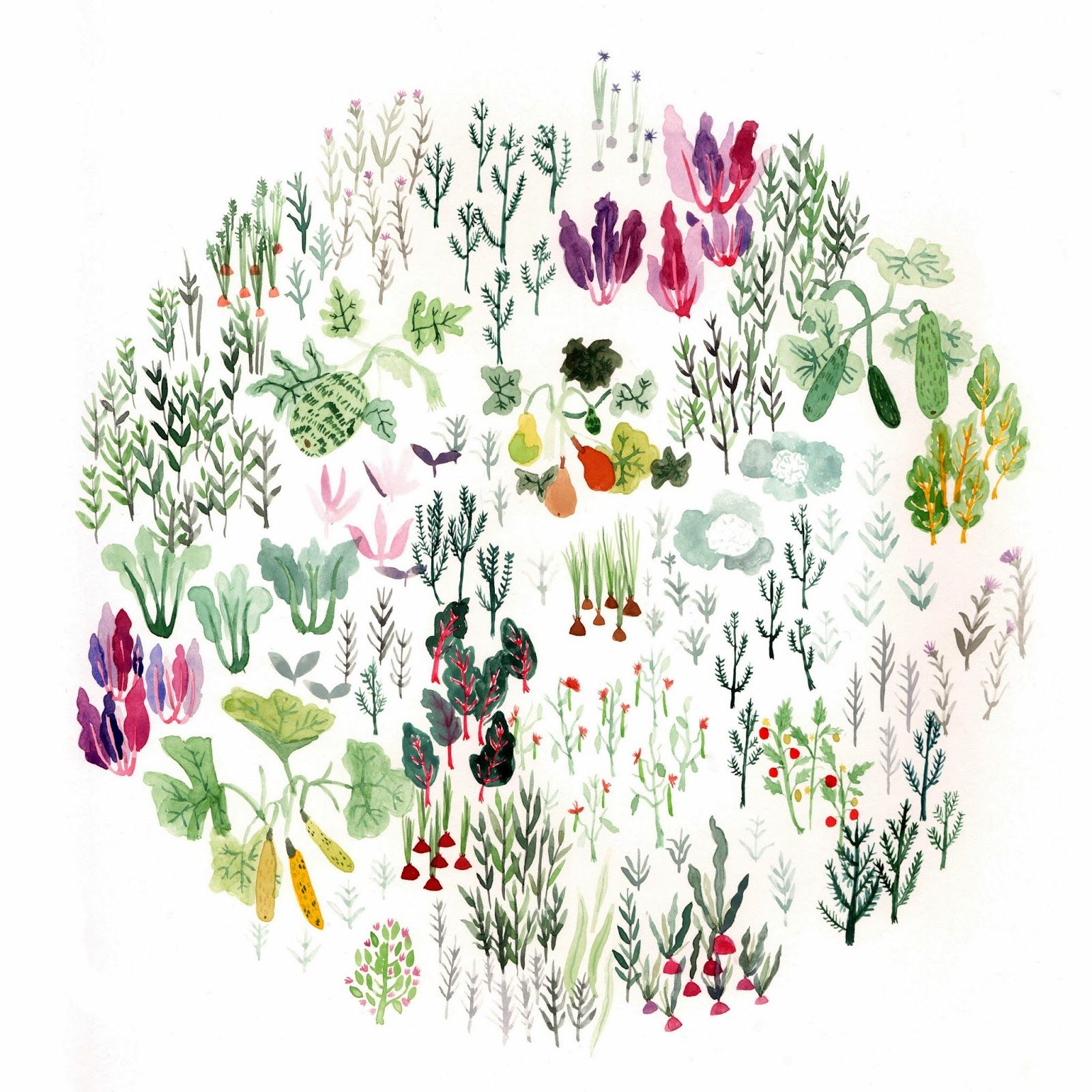 """Garden"", Watercolour, 2013 - Emily Watkins"