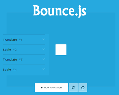 Bounce js – Javascript Library to Create Beautiful CSS3
