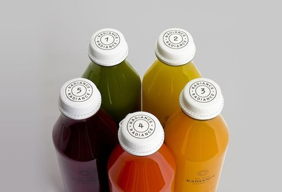 Radiance fruit juice packaging designed by Construct.