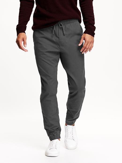 Men s Twill Joggers Jogger Pants Outfit dd72c349aa
