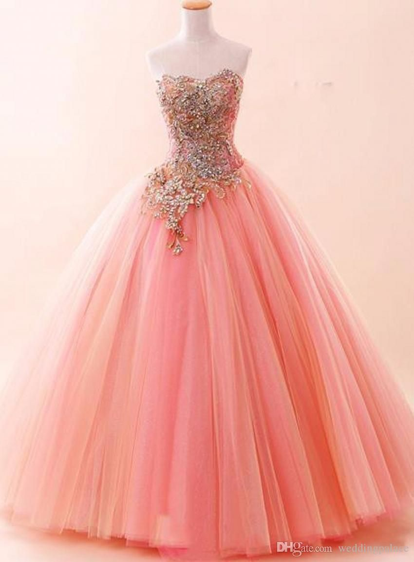 Pink Sexy Sweetheart Quinceanera Dresses Lace up Tulle Luxury Bling ...