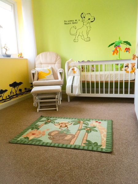 Safari Lion King Themed Nursery With