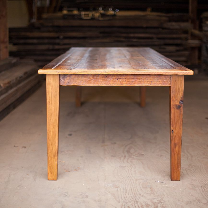 Heres a table with tapered legs that we delivered