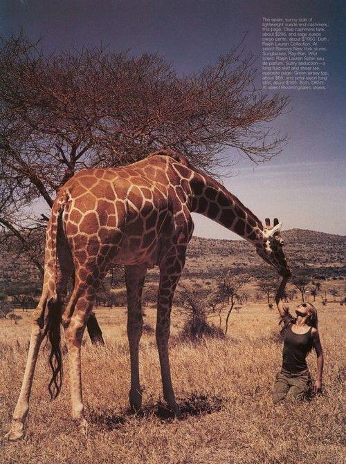 """""""Wild"""", Harpers Bazaar US, May 1999Photographer: Wayne MaserModel: Aurelie Claudel"""