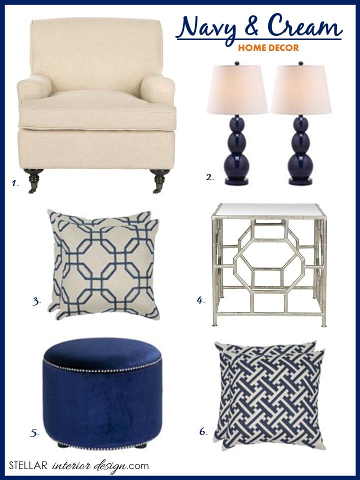 Decorating A Room Online: Interior Design Boards, Color Trend For 2014, Navy Home