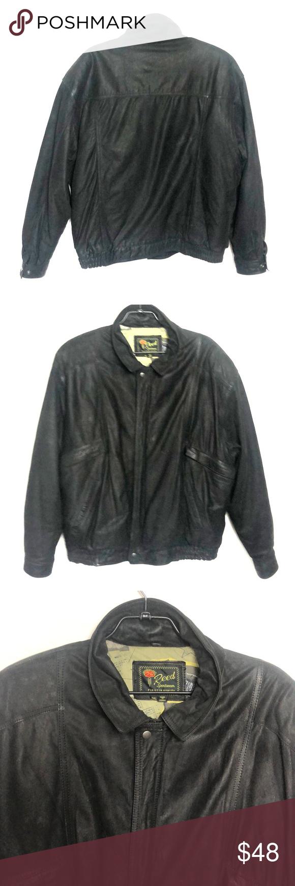 Vtg Reed Sportswear Leather Jacket 48l Bomber Leather Jacket Sportswear Jackets [ 1740 x 580 Pixel ]