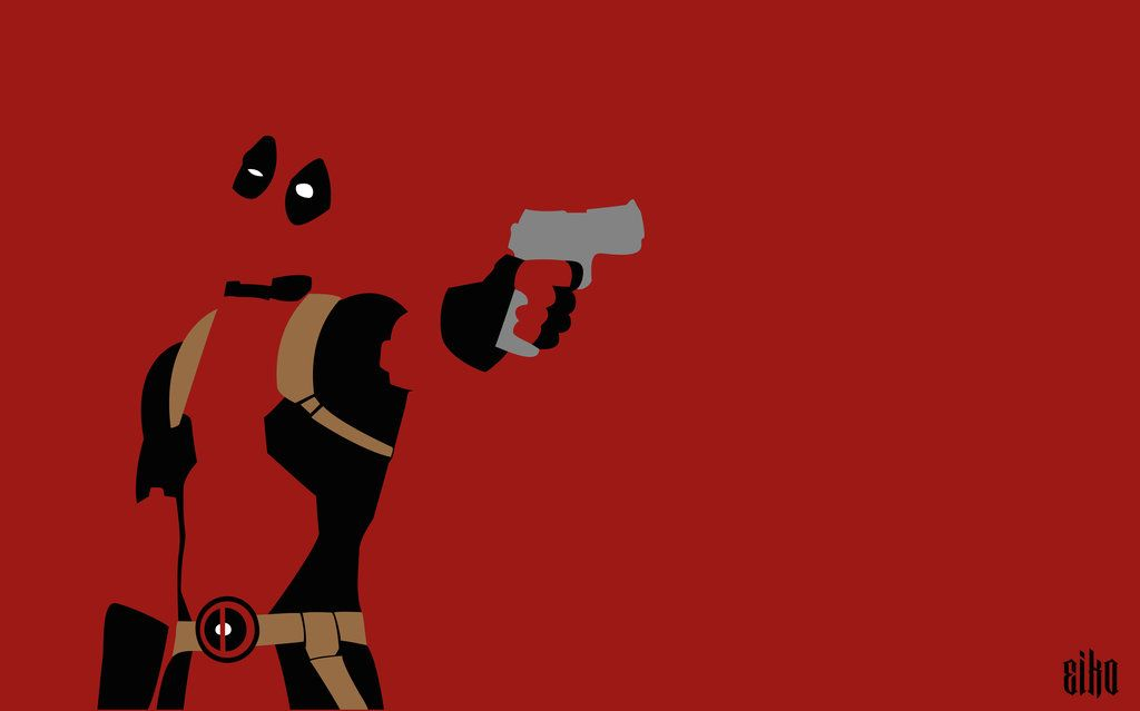 Deadpool Wallpaper Wallpaper Deadpool Minimalist By Malowsdrawing