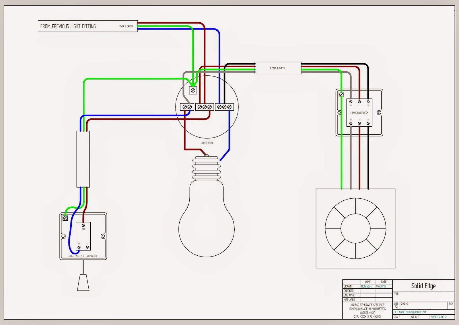 Wiring Bathroom Fan Light Switch - Diagram Schematic on