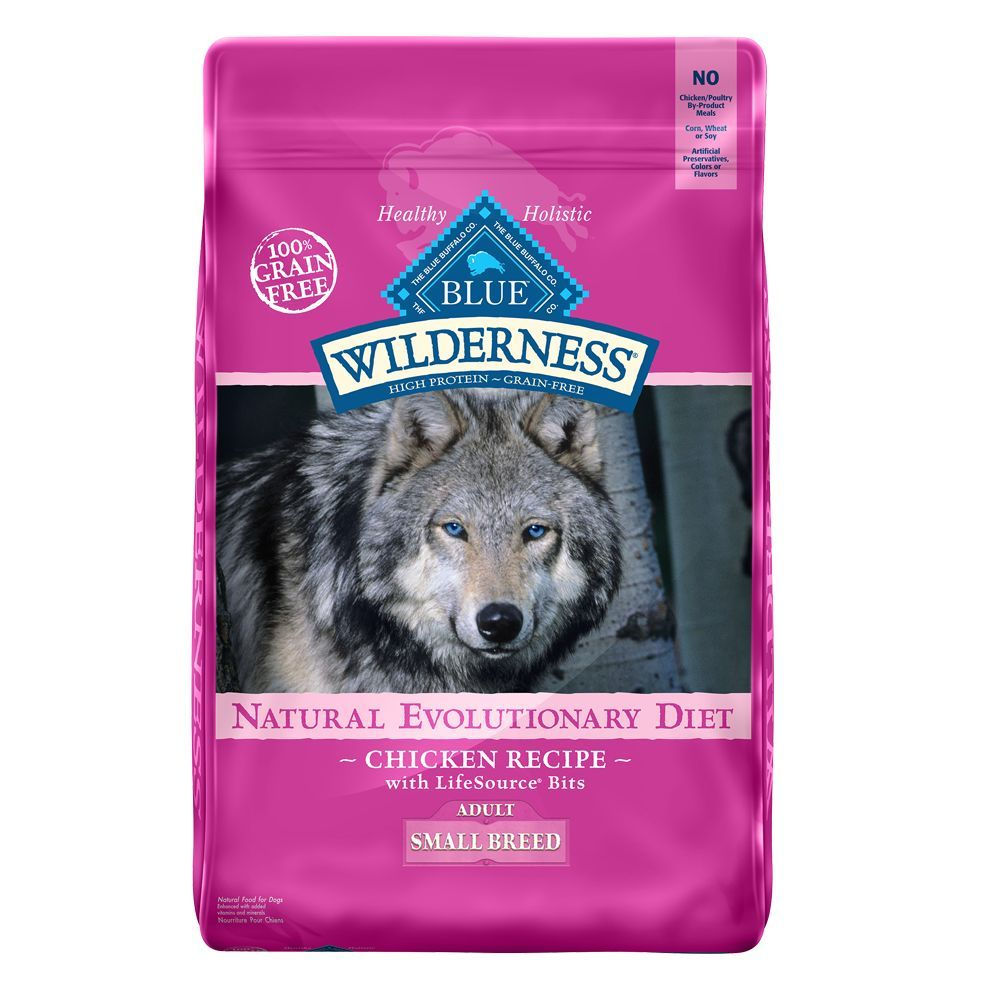 Blue Buffalo Wilderness Grain Free Small Breed Adult Dog Food Size