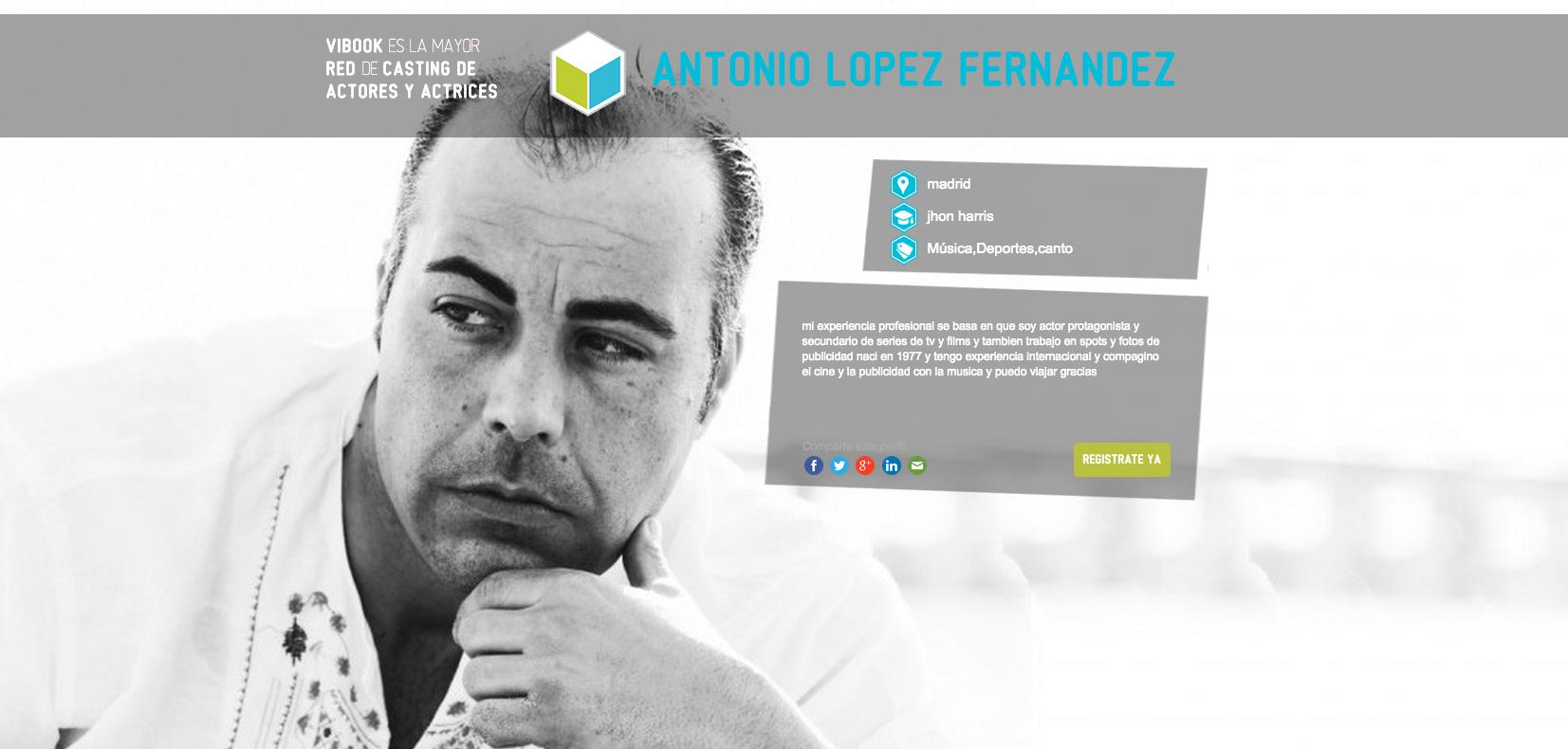 Actor ANTONIO LÓPEZ FERNÁNDEZ