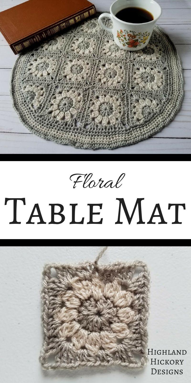 Floral Table Mat - Free Crochet Pattern | Breiwerk | Pinterest ...