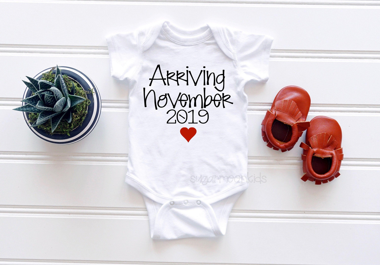 Coming Soon November 2019 Baby Announcement Infant Bodysuit