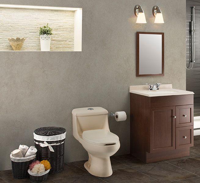 Un estilo tradicional puedes ser un gabinete con tono de - Decoraciones de bano ...