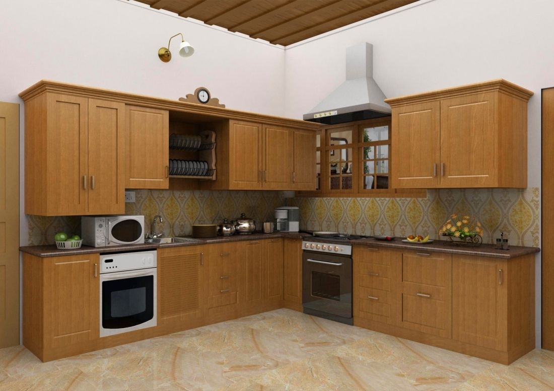 Simple Kitchen Interiors kitchen cabinet design of cochin architect | interior design