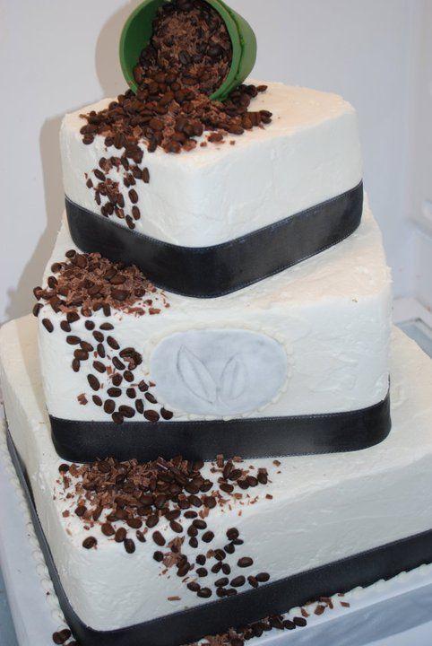 Coffee Bean Wedding Cake Adrienne Co Wedding Cakes Cake Unusual Weddings