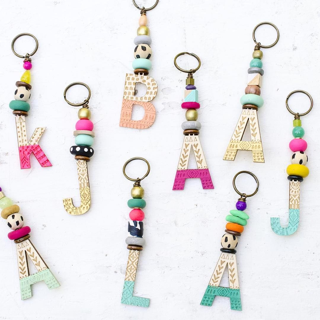 A set of keychains a bride ordered for her bridesmaids. ❤  f50a75f8fe84