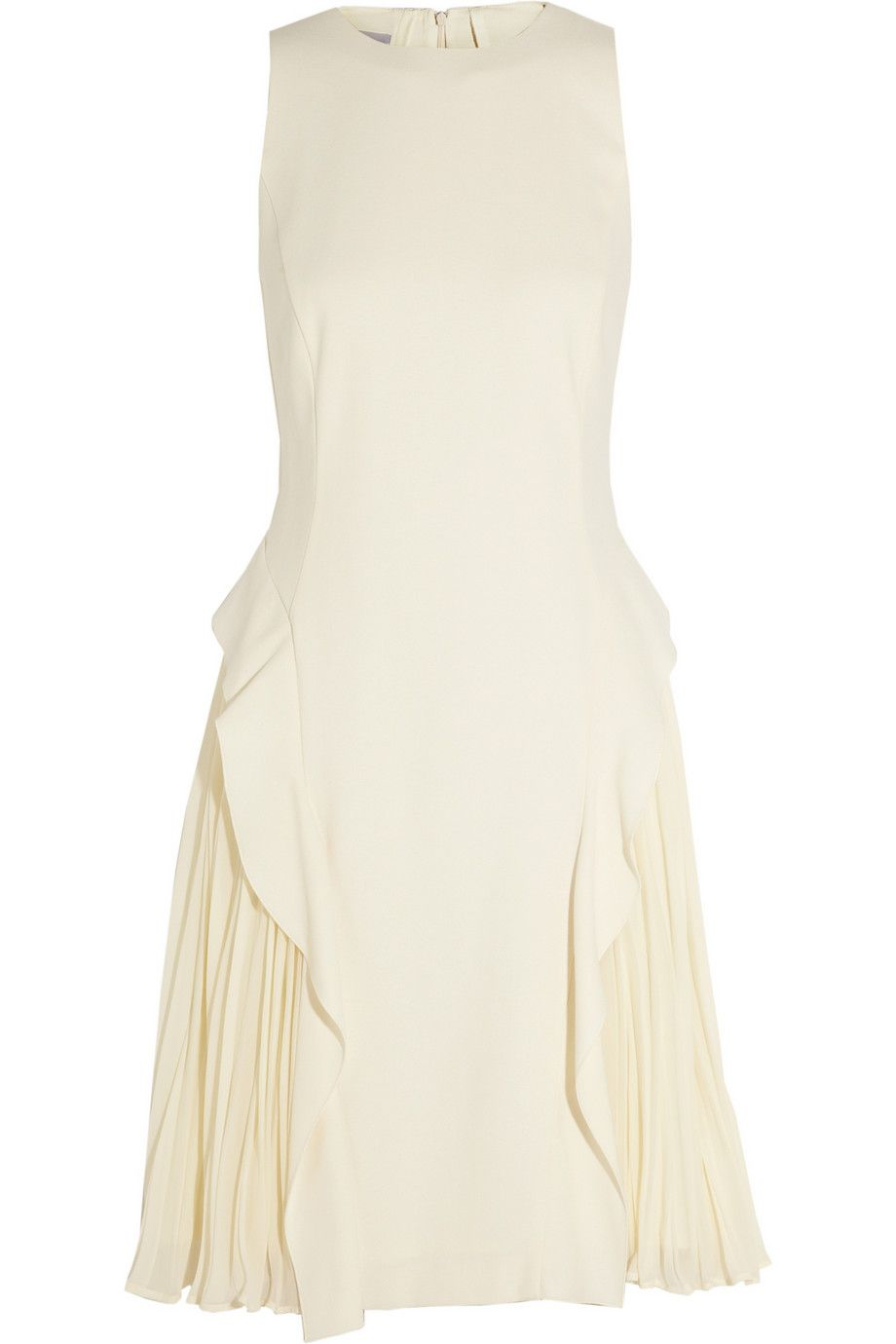 PHILOSOPHYCrepe and pleated georgette dress