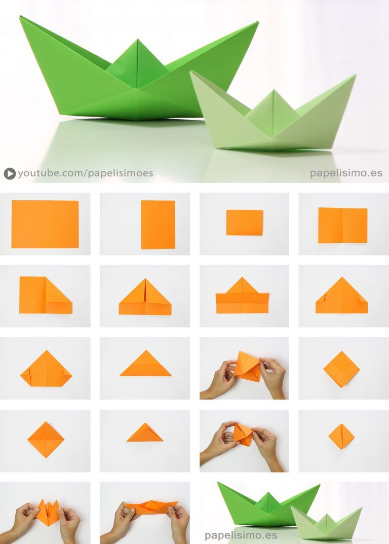 Barco De Papel Paso A Paso Origami Paper Boat Manualidades