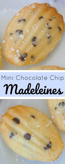 Mini Chocolate Chip Madeleines