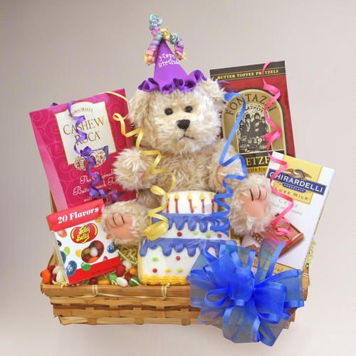 One of my favorite discoveries at WorldMarket.com: Birthday Celebration Gift Basket #birthdaybasket