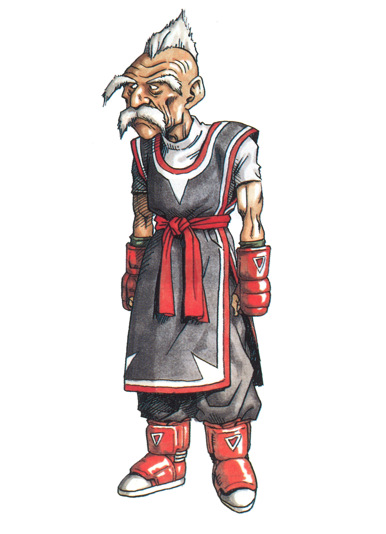 Fei Pusu From Tobal No 1 With The Original Akira Toriyama Artwork And 3d Face Follow Thevideogameartarchive On Tumblr For Aweso Akira Game Art Character Art