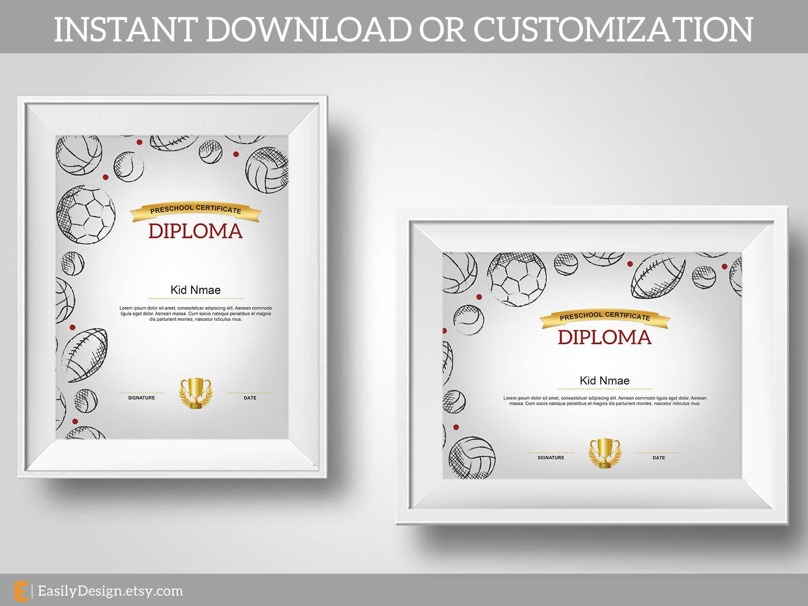 Sports certificate,Soccer diploma,Football diploma