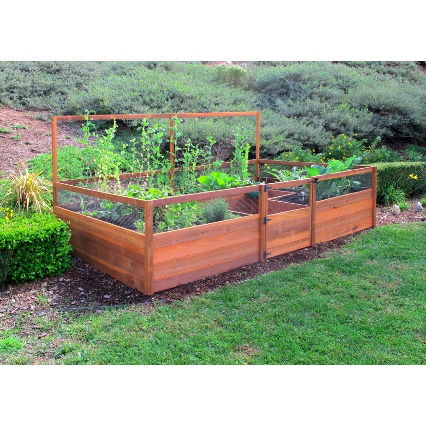 Cedar Complete Raised Garden Bed Kit 8' x 12' Small