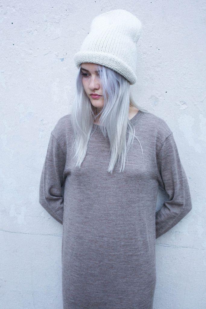 Lauren Manoogian Double Crown Beanie in White